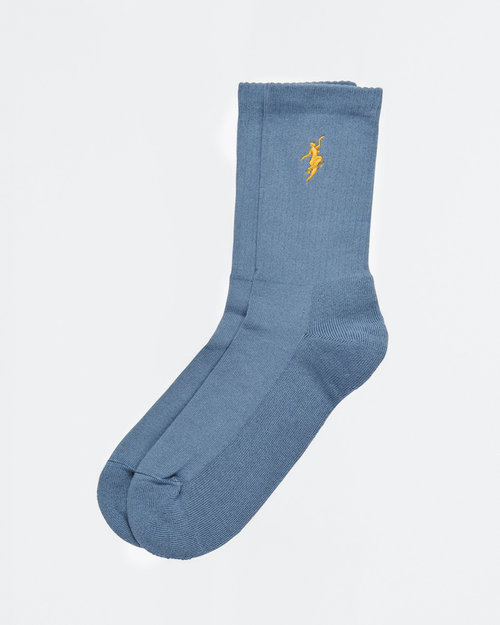 Polar Polar No Comply Socks Slate Blue/Yellow