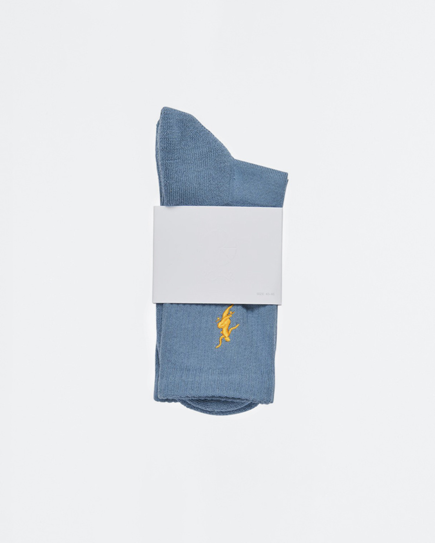 Polar No Comply Socks Slate Blue/Yellow