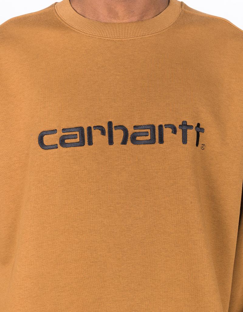 Carhartt Script Crewneck Hamilton Brown