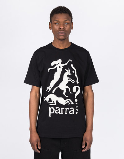 Parra Workout Woman Horse T-Shirt Black