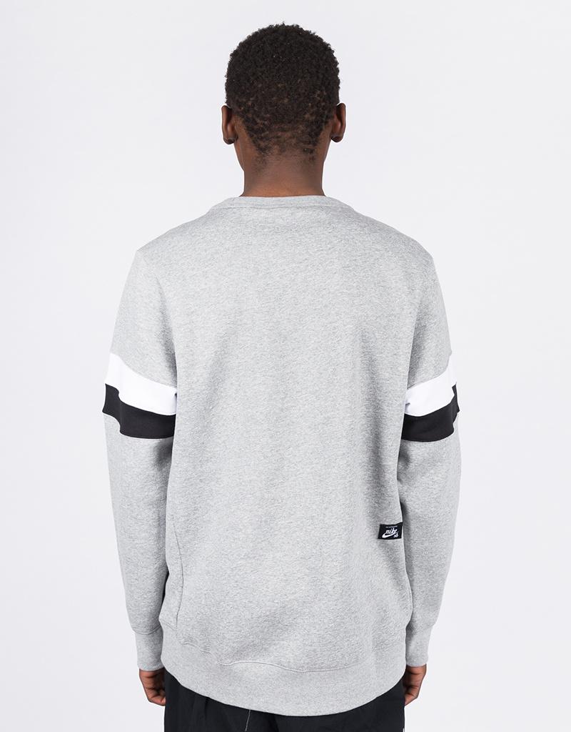 Nike SB Icon Crew Dark Grey Heather/White/Black/Black
