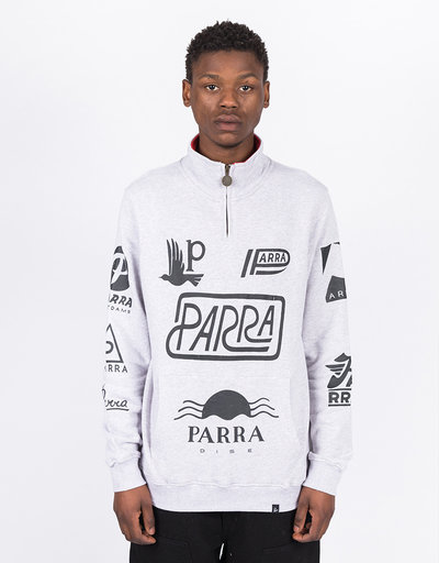 Parra Sponsored Quarterzip Ash Gray