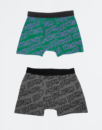Fucking Awesome Boxer Briefs Purple Green/Black Grey