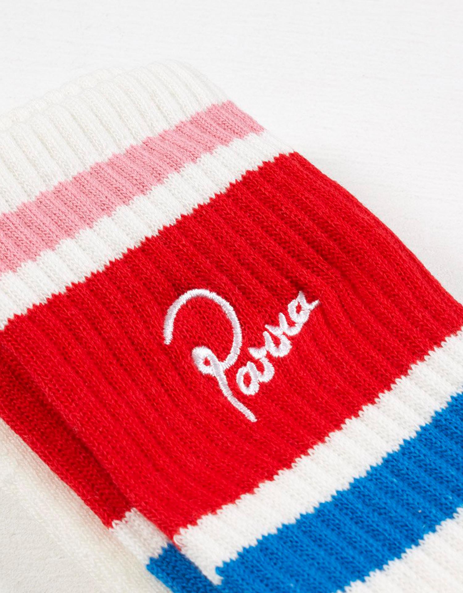 Parra Crew Socks White