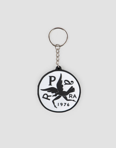 Parra Keychain Upside Down Bird White