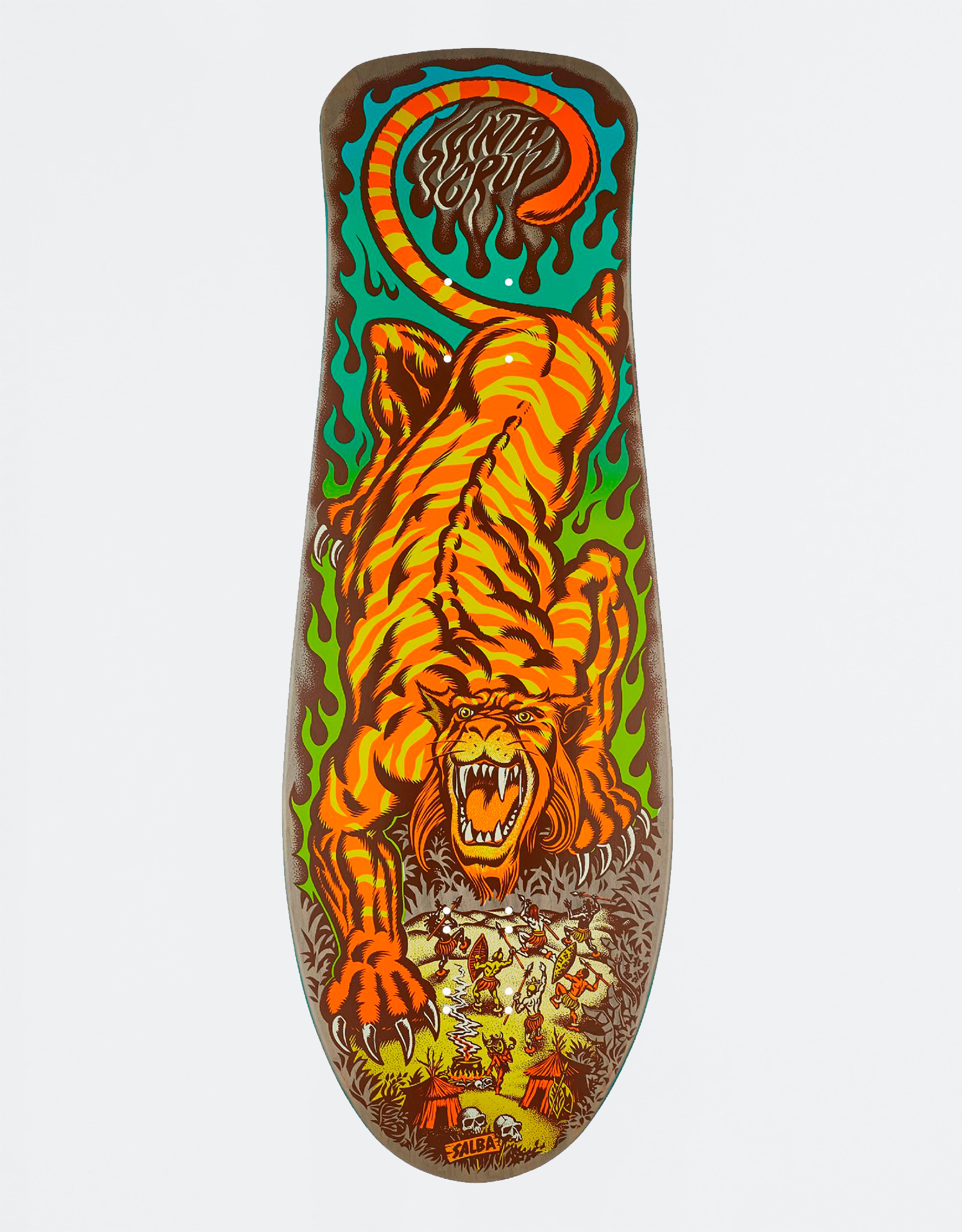 "Santa Cruz Salba Tiger Reissue Matte Finish 10,3"" Deck"