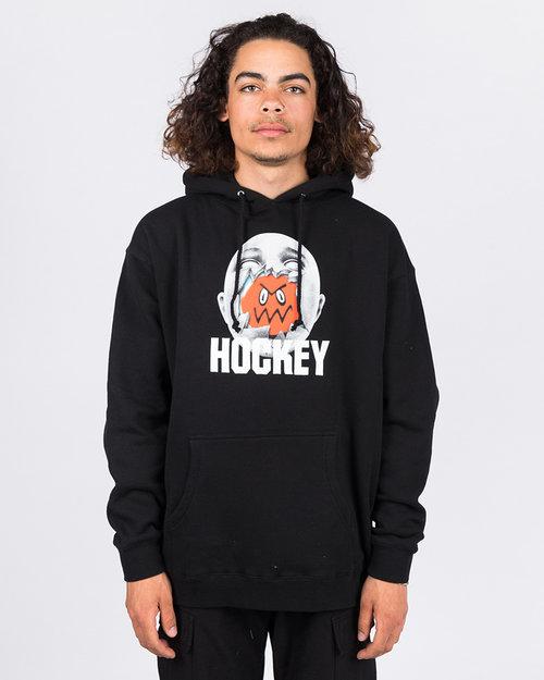 Hockey Hockey Broken Face Hoodie Black