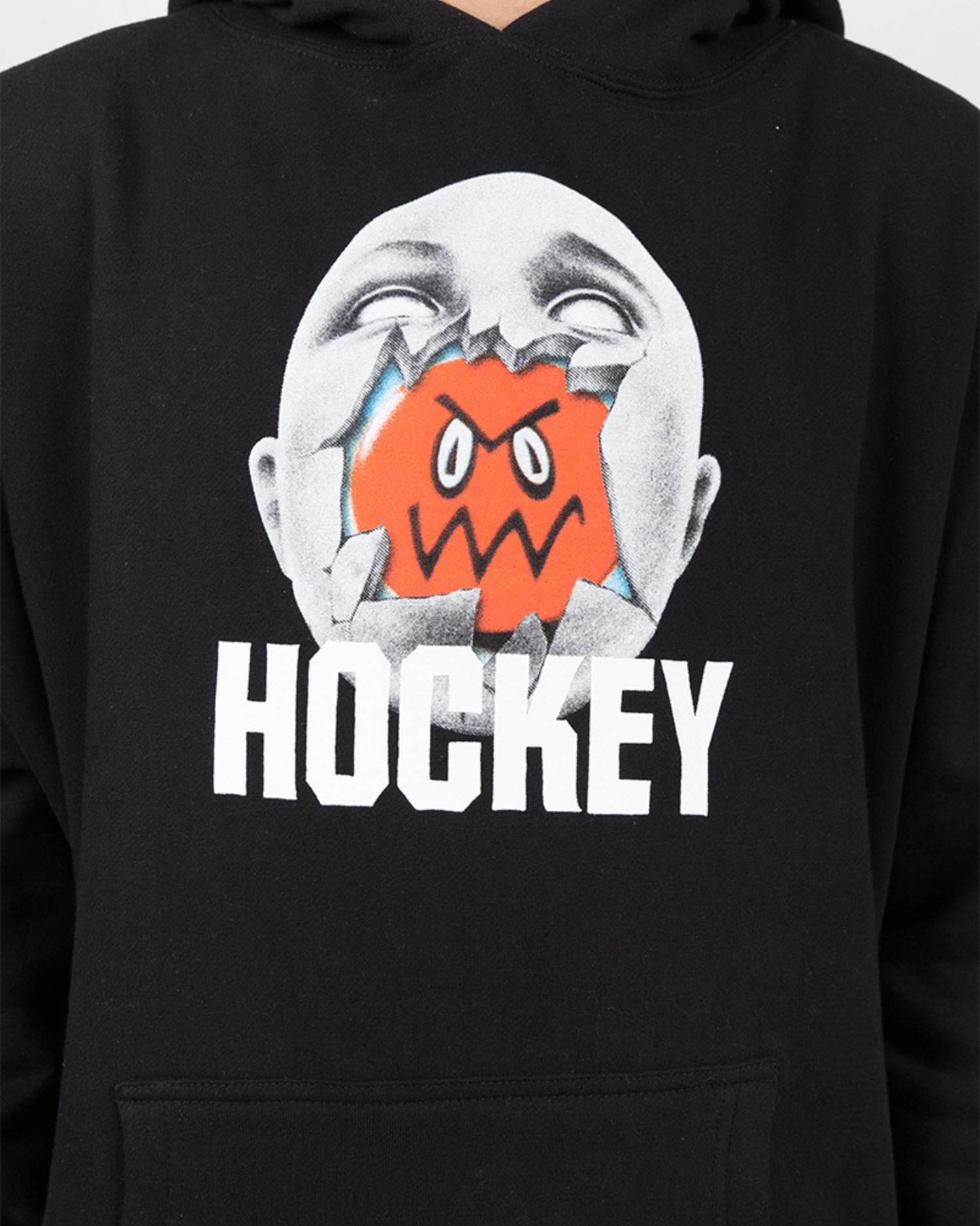 Hockey Broken Face Hoodie Black