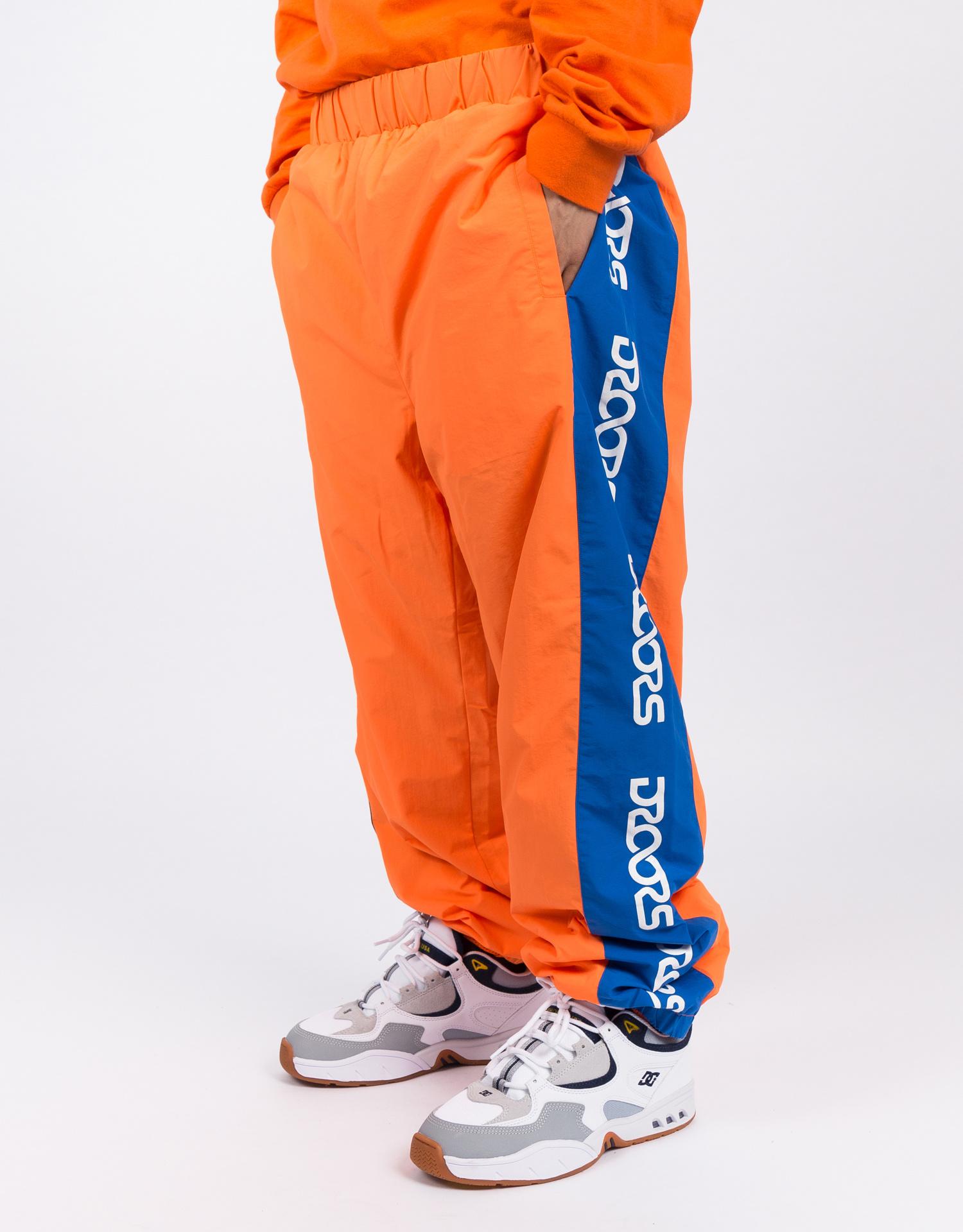 Droors Ocelot Pants Bright Orange/Navy