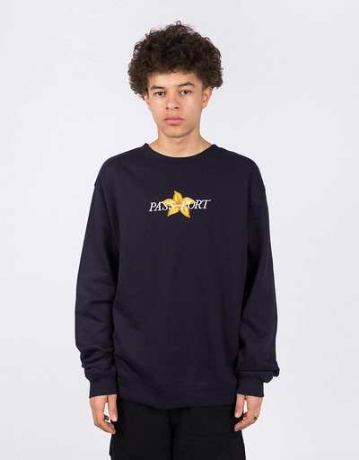 Passport Daffodil Appliqué Crewneck Navy