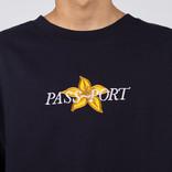 Passport Daffodil Appliqué Crewneck Navy
