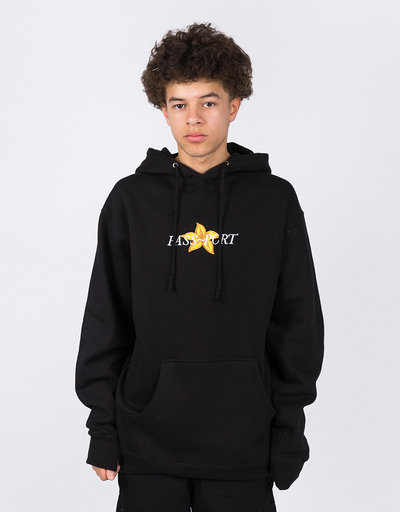 Passport Daffodil Appliqué Hoodie Black
