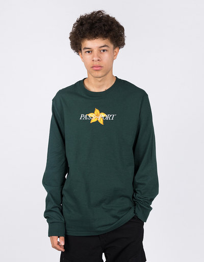 Passport Daffodil Appliqué Longsleeve Forest Green