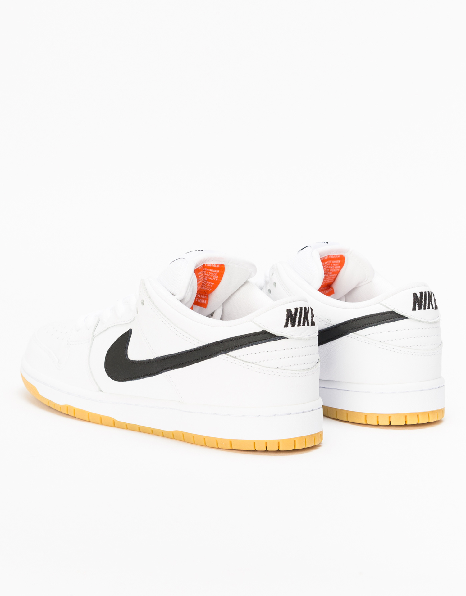 separation shoes 18a0f 1cb10 ... Nike SB Dunk Low Pro Iso Orange Label white black-white-gum light ...