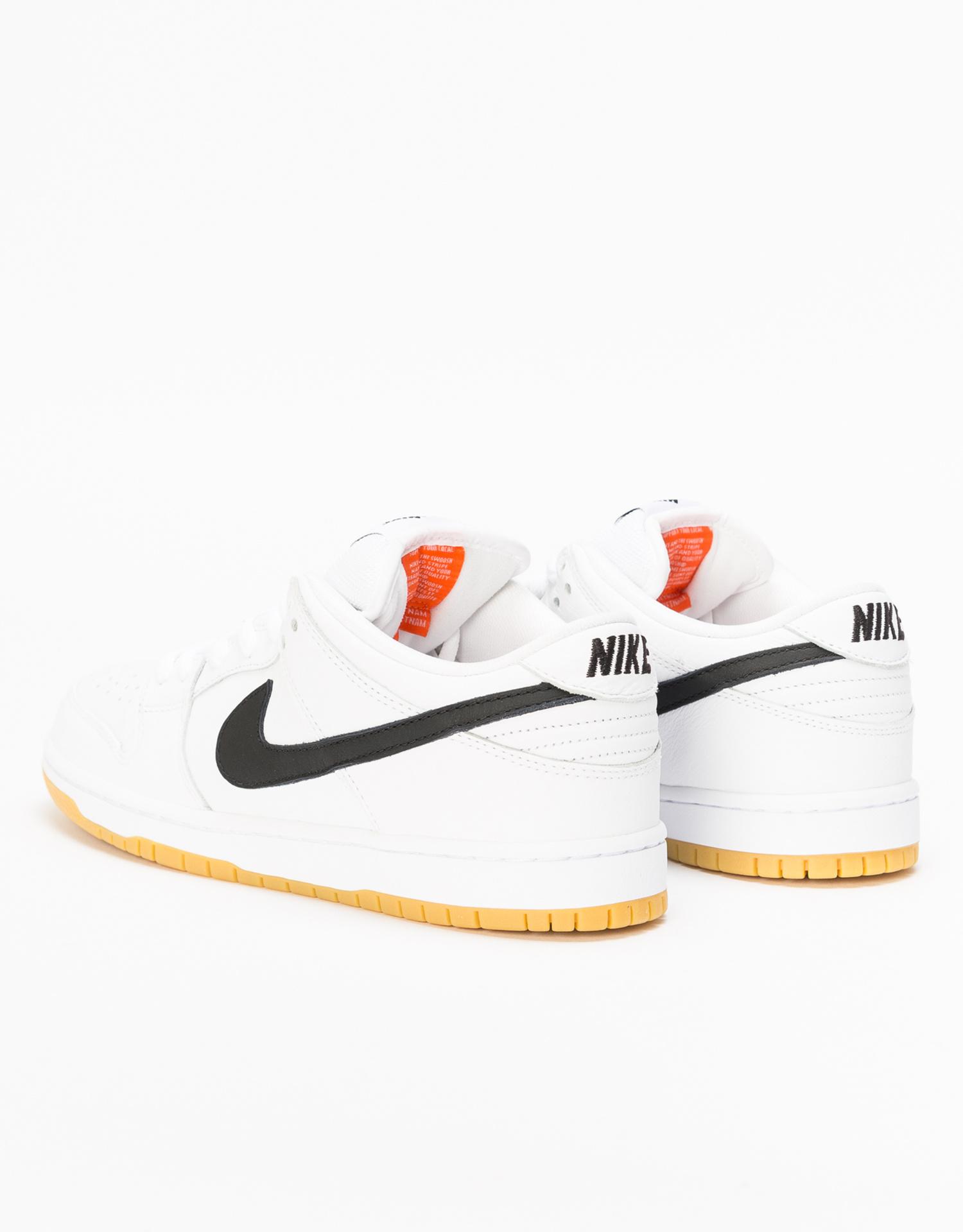 Nike SB Dunk Low Pro Iso Orange Label  white/black-white-gum light brown