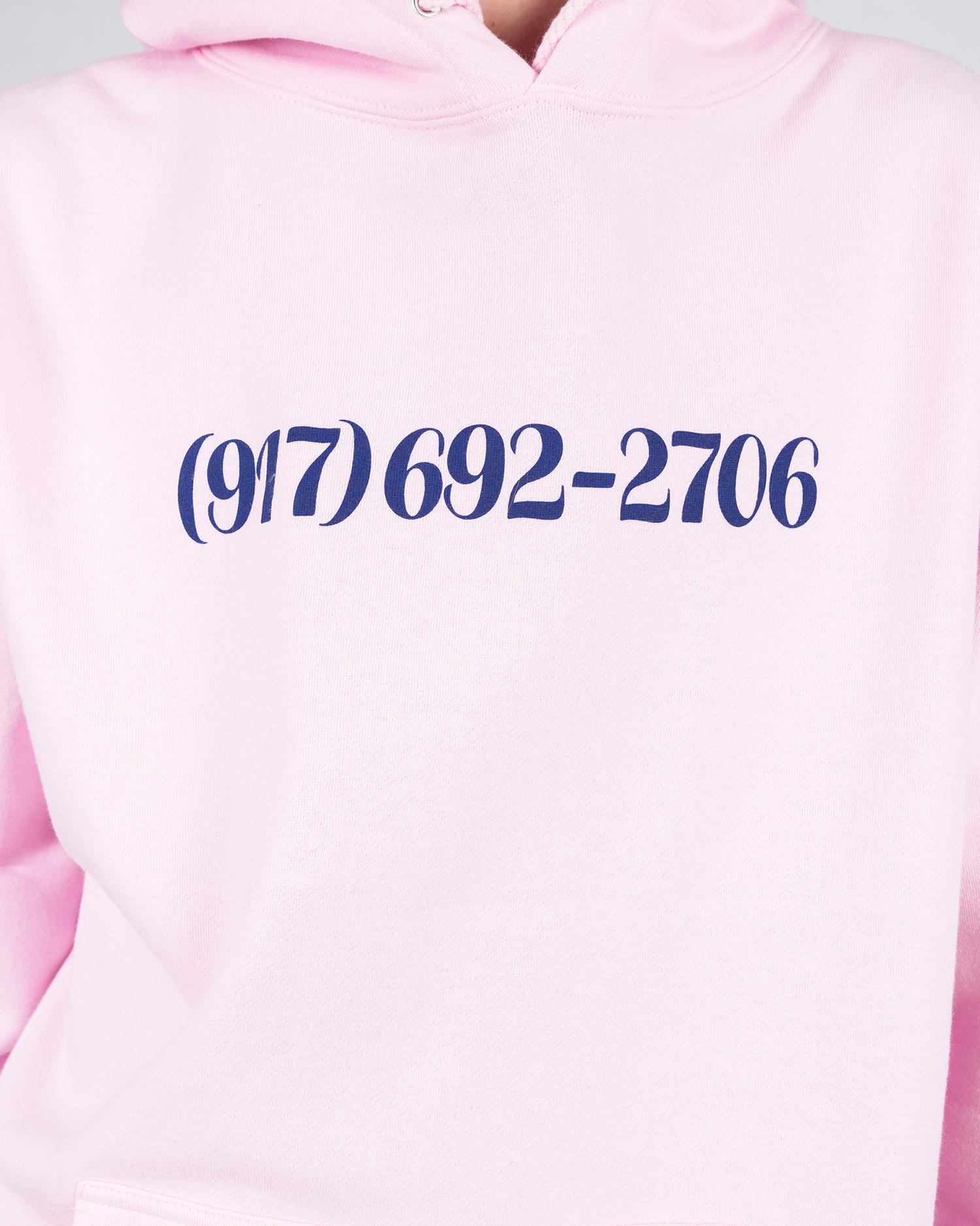 Call Me 917 Dialtone Hoodie Pink