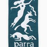 Parra Workout Woman Horse Beach Towel Mallard Green