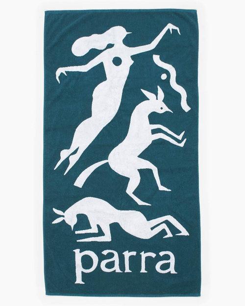 Parra Parra Workout Woman Horse Beach Towel Mallard Green