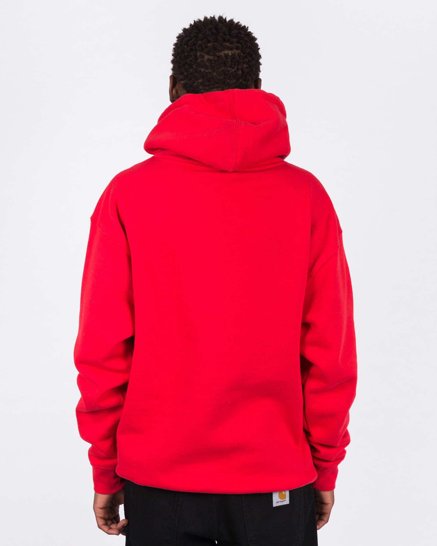 Call me 917 Area Code Pullover Hood Red