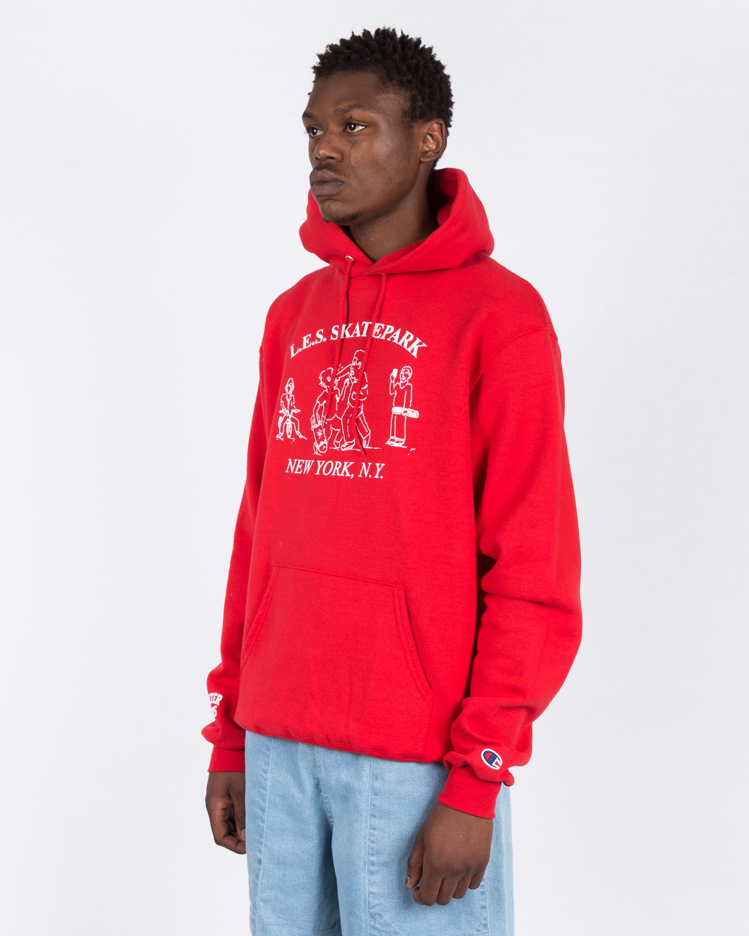 Quartersnacks LES Skatepark Champion Hoodie Red