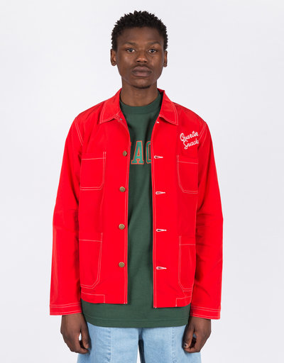 Quartersnacks Nylon Chore Jacket Red