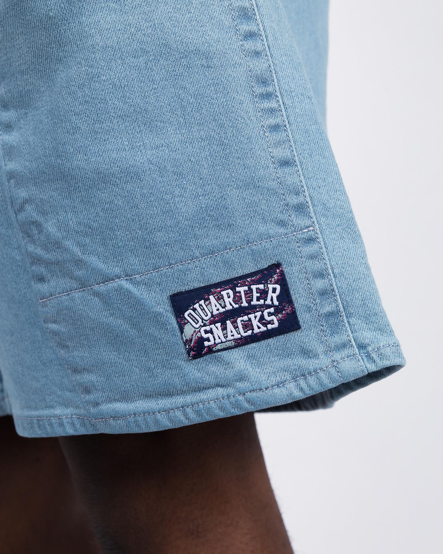 Quartersnacks Denim Shorts Light Blue