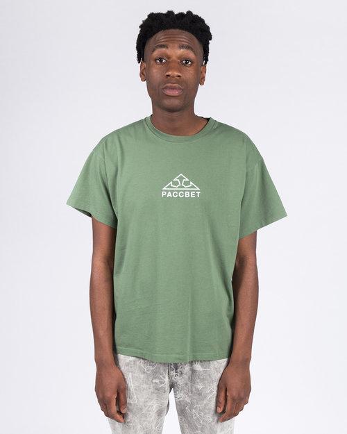 paccbet Paccbet Large Logo T-shirt Khaki