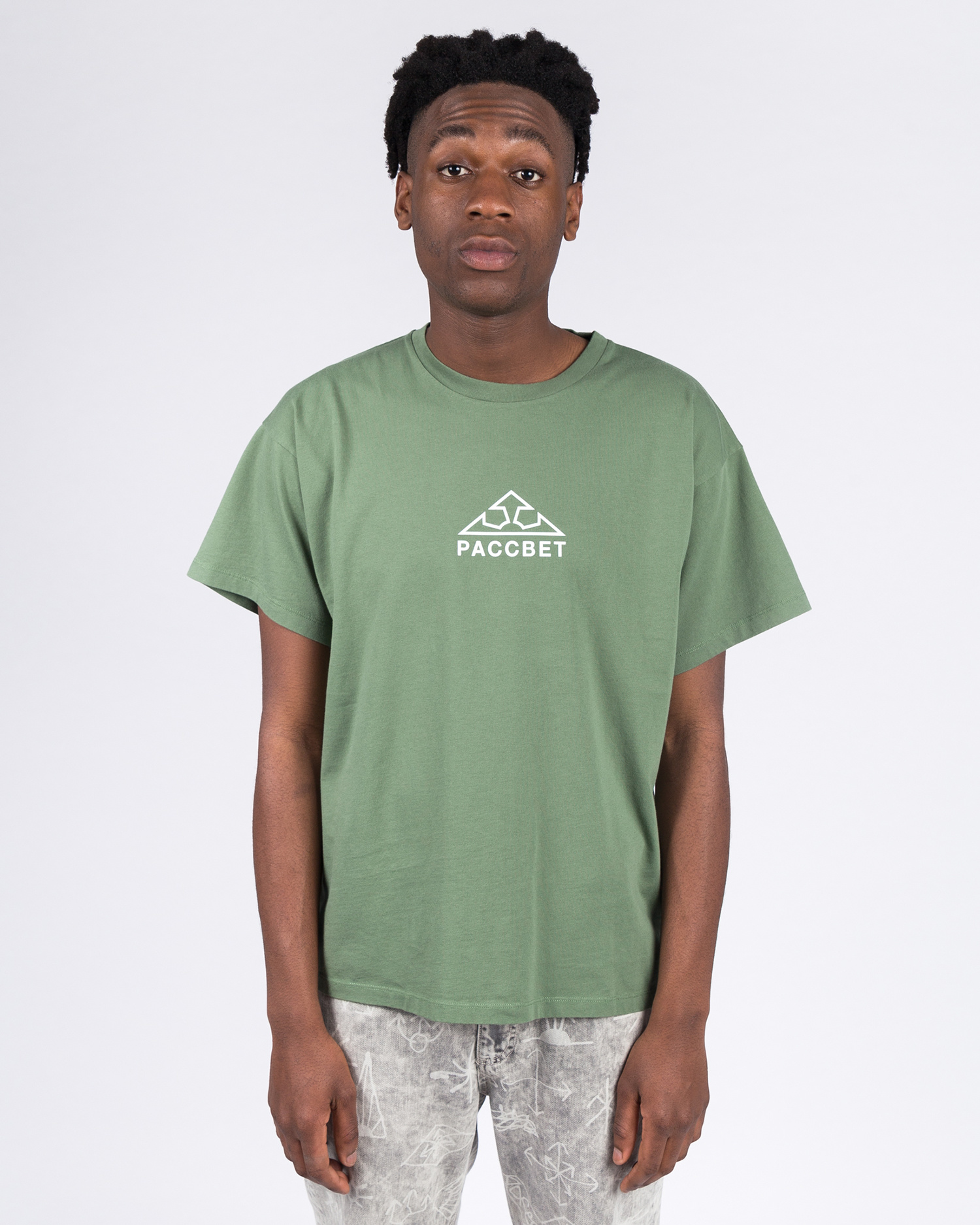 Paccbet Large Logo T-shirt Khaki