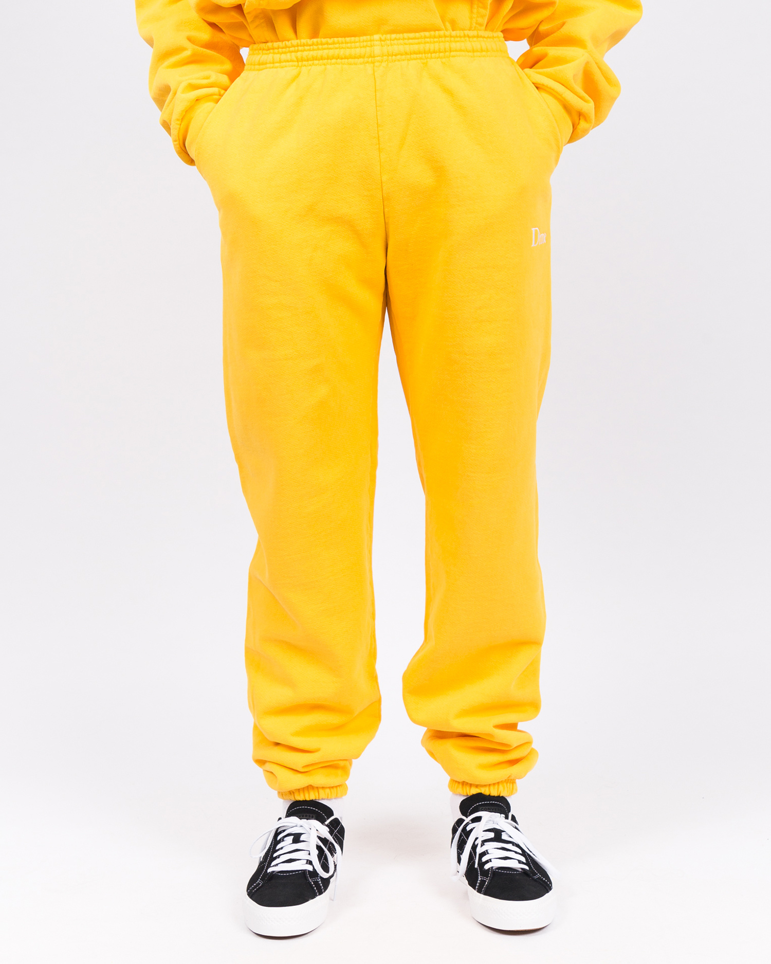 Dime Classic Embroidered Sweatpants Yellow