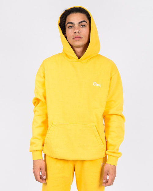 Dime Dime Classic Embroidered Hoodie Yellow