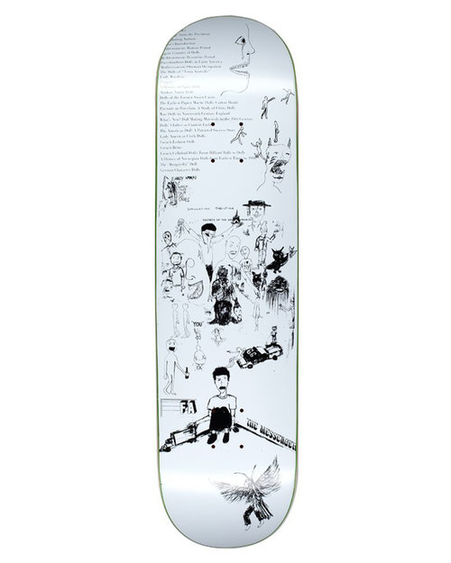 """Fucking Awesome Fucking Awesome Dill Drawings White 8,25"""" Deck"""