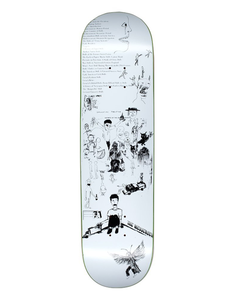 """Fucking Awesome Dill Drawings White 8,25"""" Deck"""