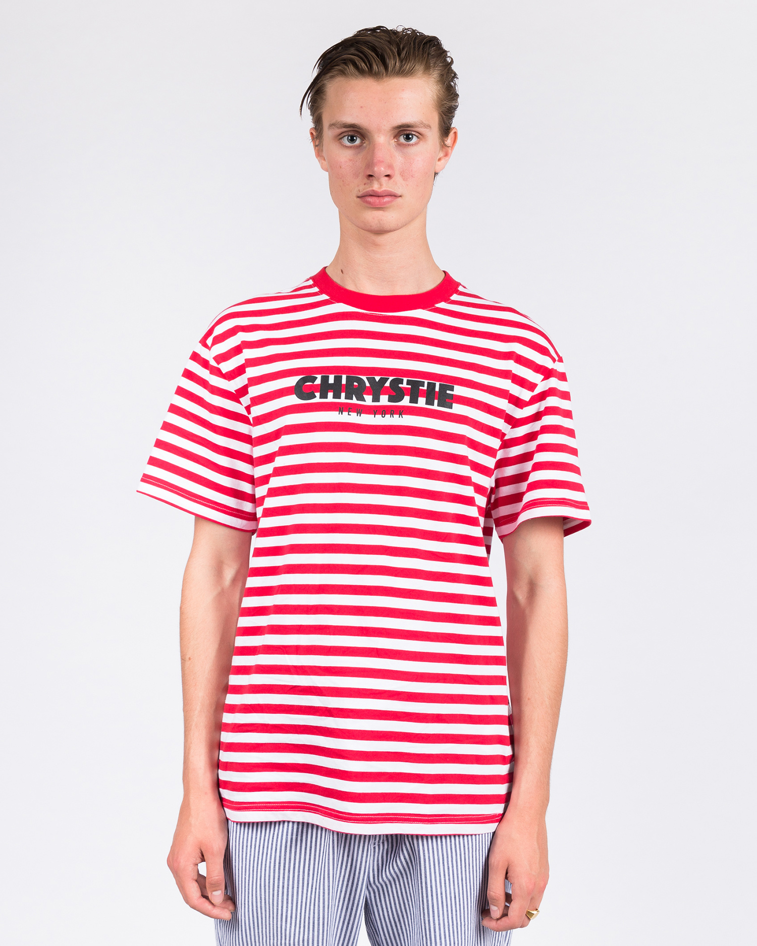 Chrystie Stripe T-Shirt Red