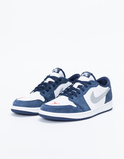 Nike SB Air Jordan 1 Low QS Midnight Navy/Metallic Silver-White