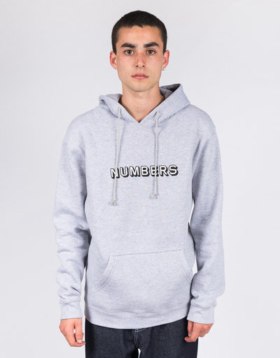 Numbers Edition Hoodie EMB 3D Wordmark Fleece Hoodie Athletic Heather