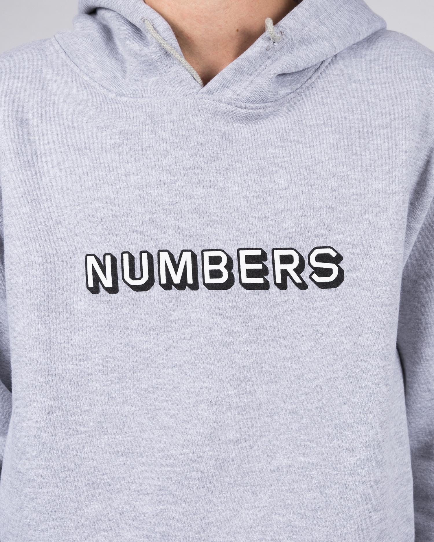 Numbers Edition Hoodie EMB 3D Wordmark Fleece Hoodie Athletic Heather