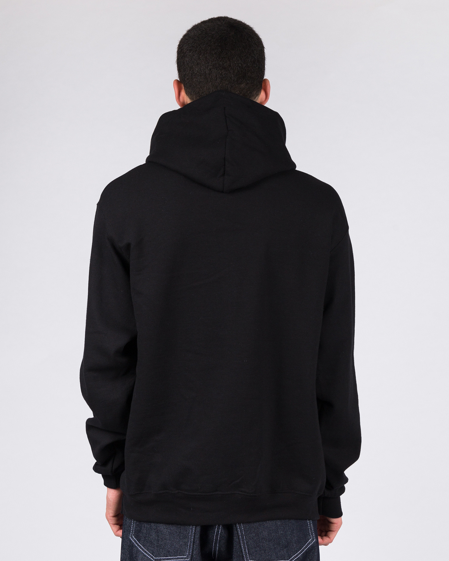 Hotel Blue Embroidered Logo Champion Hoodie Black