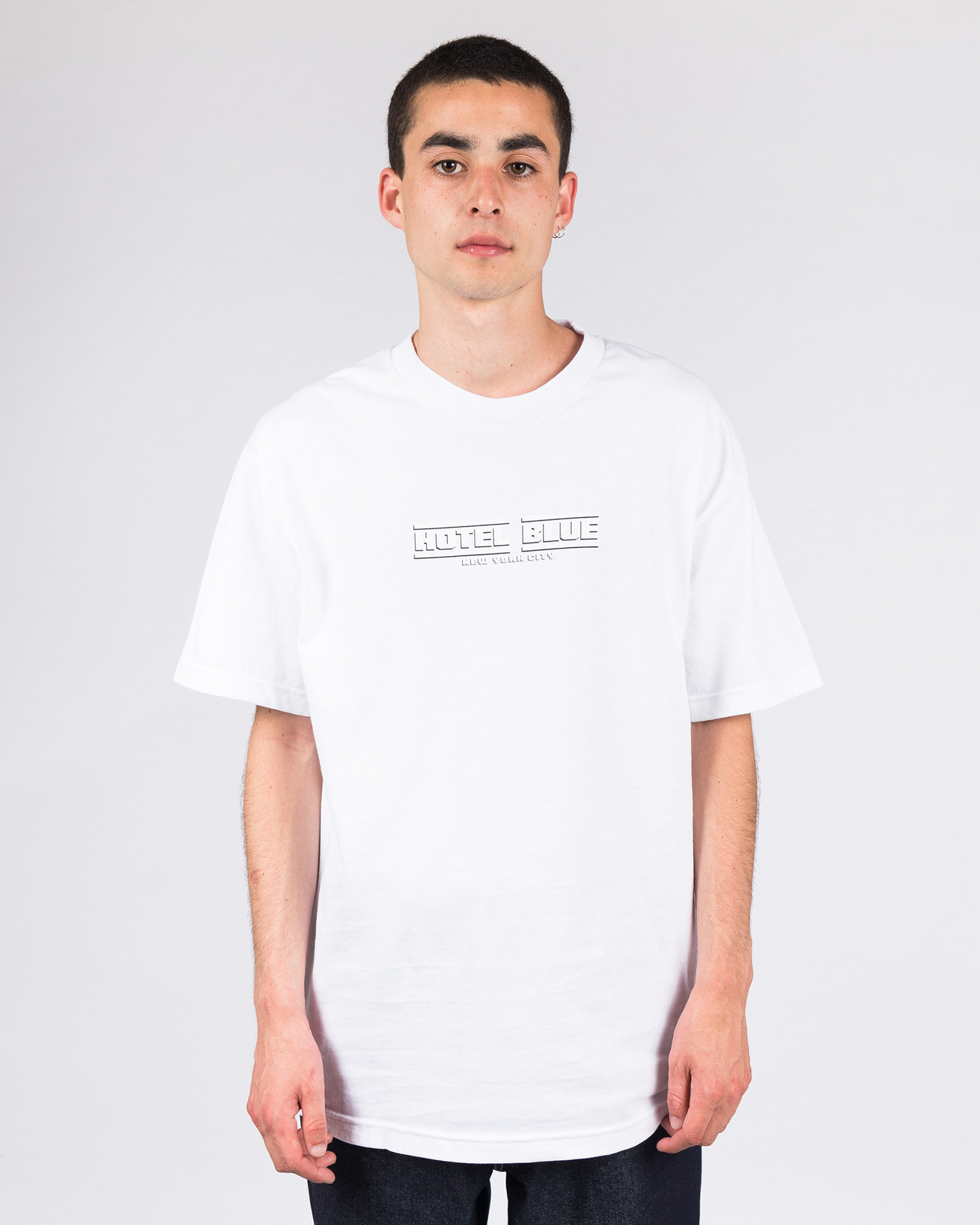 Hotel Blue Speed Racer T-Shirt White