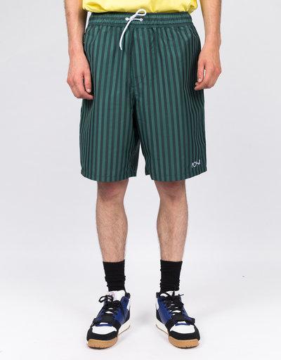 Polar Stripe Swim Shorts Dark Green