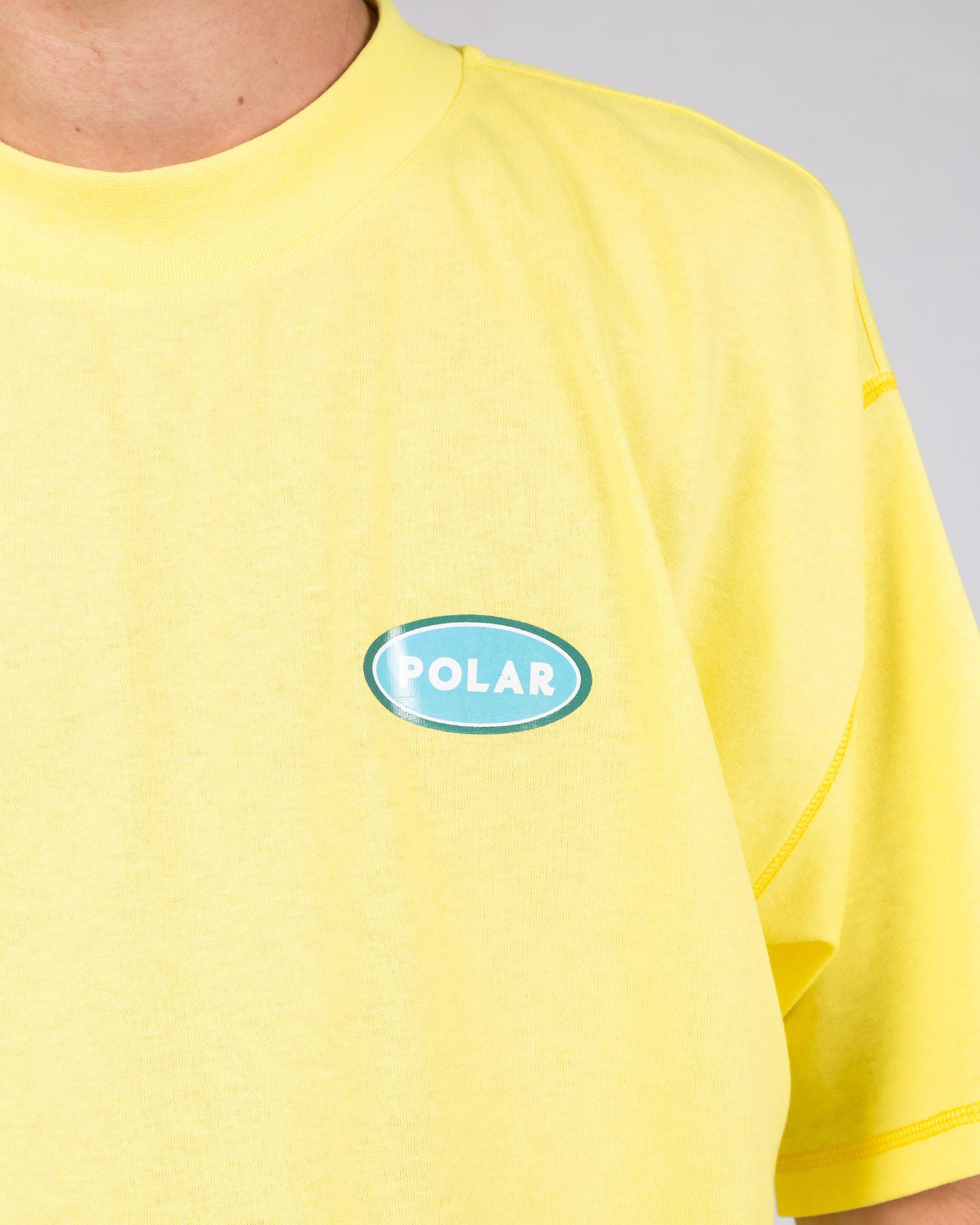 Polar Station Logo Surf Tee Yellow