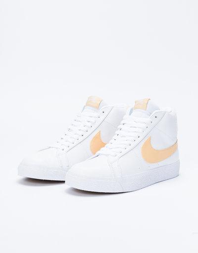 Nike SB Zoom Blazer Mid Premium White/Celestial Gold