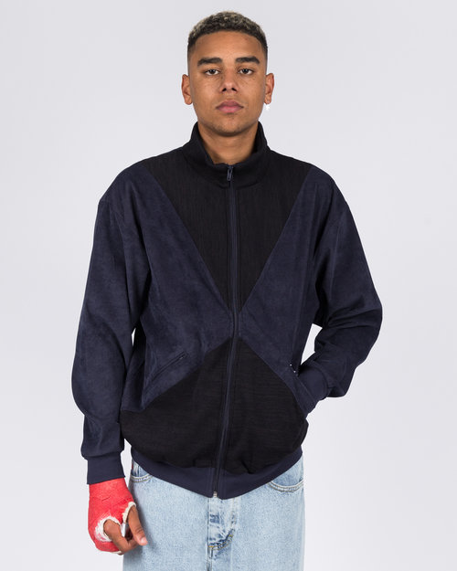 Yardsale Yardsale Velour Full Zip Navy