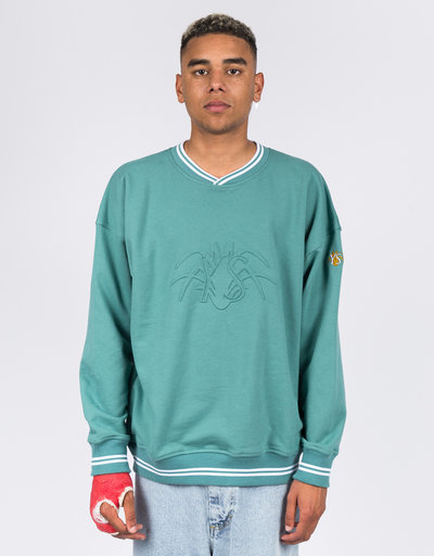 Yardsale YS Embossed Sweatshirt Green