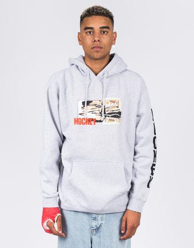 Hockey King Cut Hoodie Grey