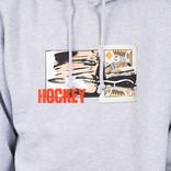 Hockey King Cut Hoodie Grey