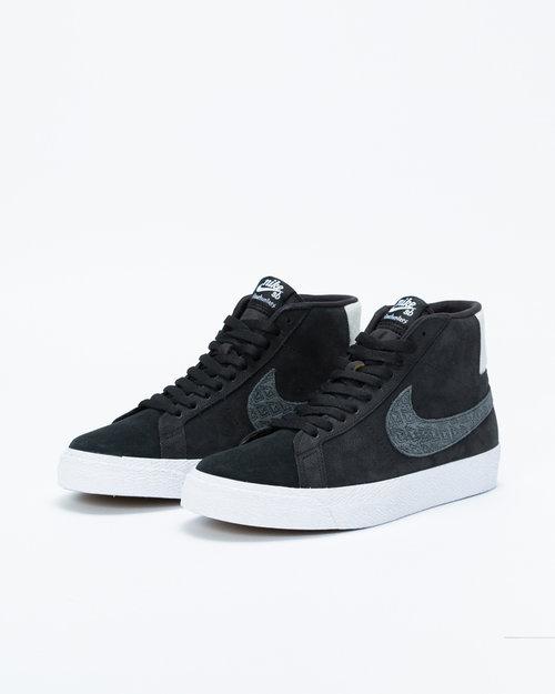 """Nike SB Nike Zoom Blazer Mid QS """"Gnarhunters"""" Black/black-white-white"""