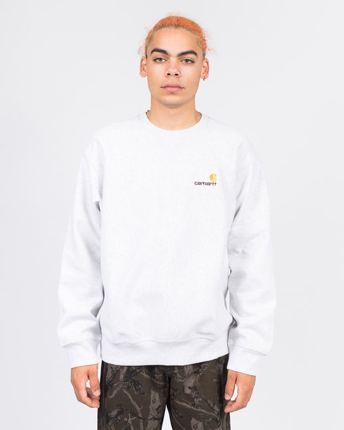 Carhartt Carhartt American Script Sweat Crewneck Ash Heather