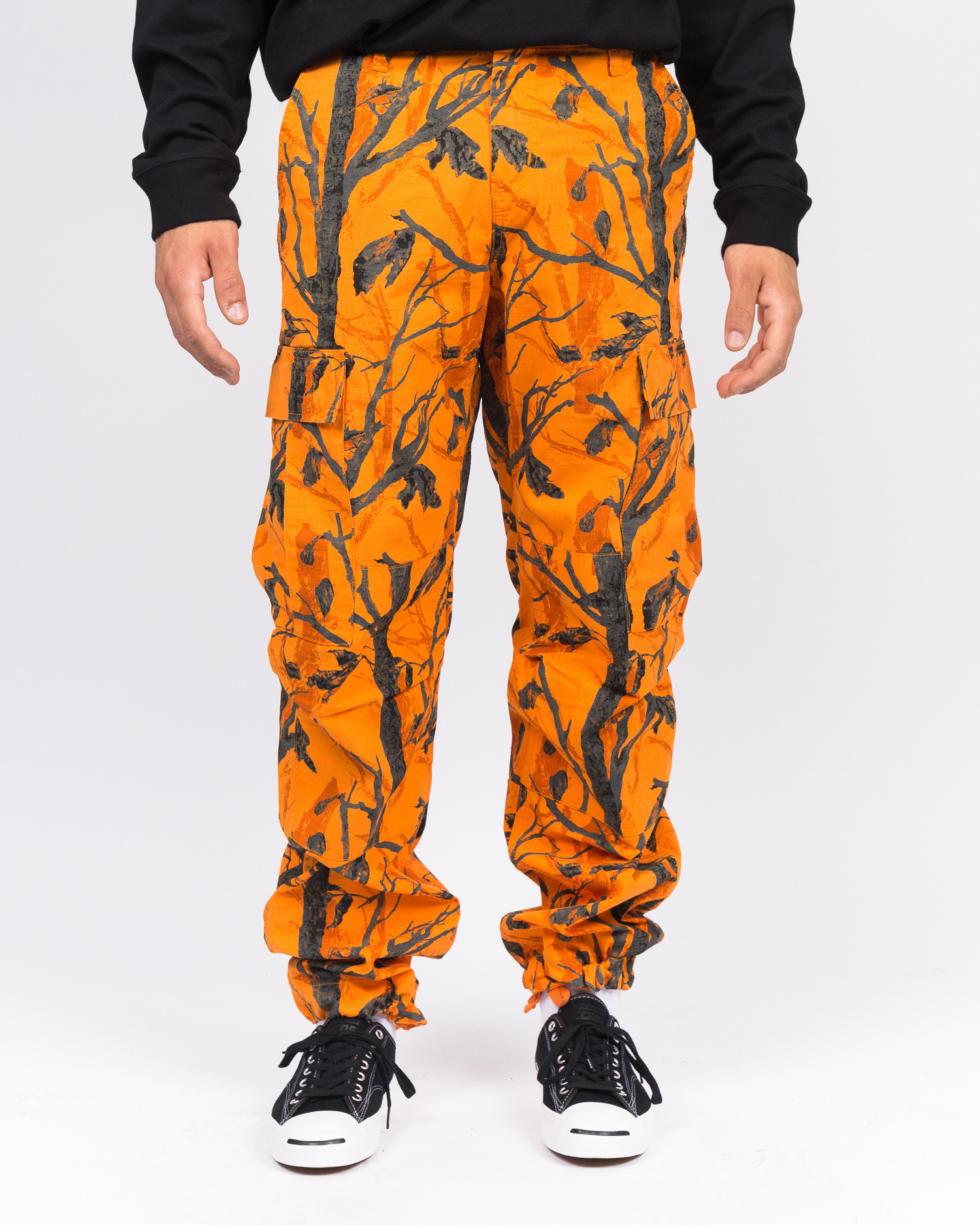 Carhartt Regular Cargo Pant Camo tree/Orange rinsed