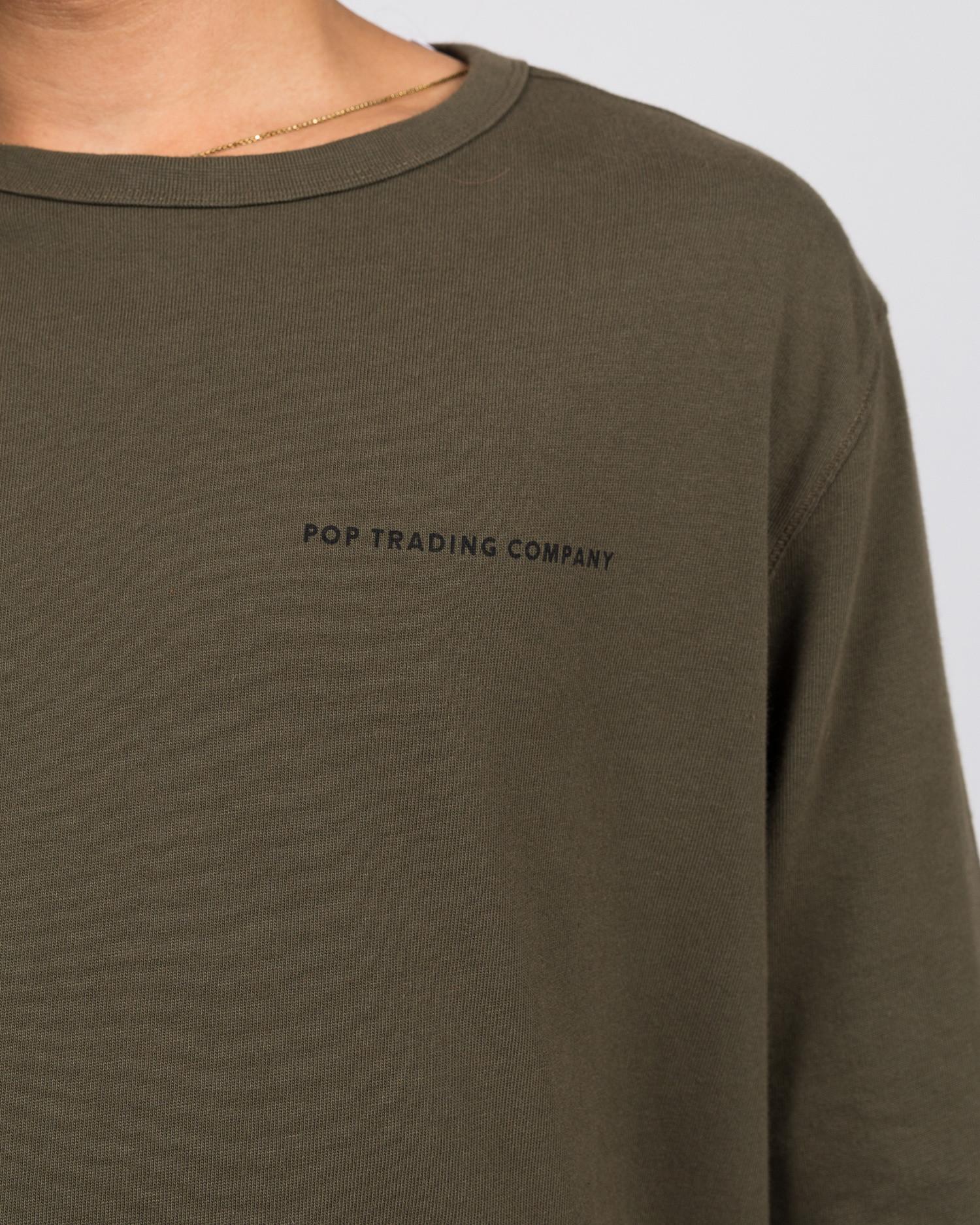 Pop Trading Co logo longsleeve t-shirt combat
