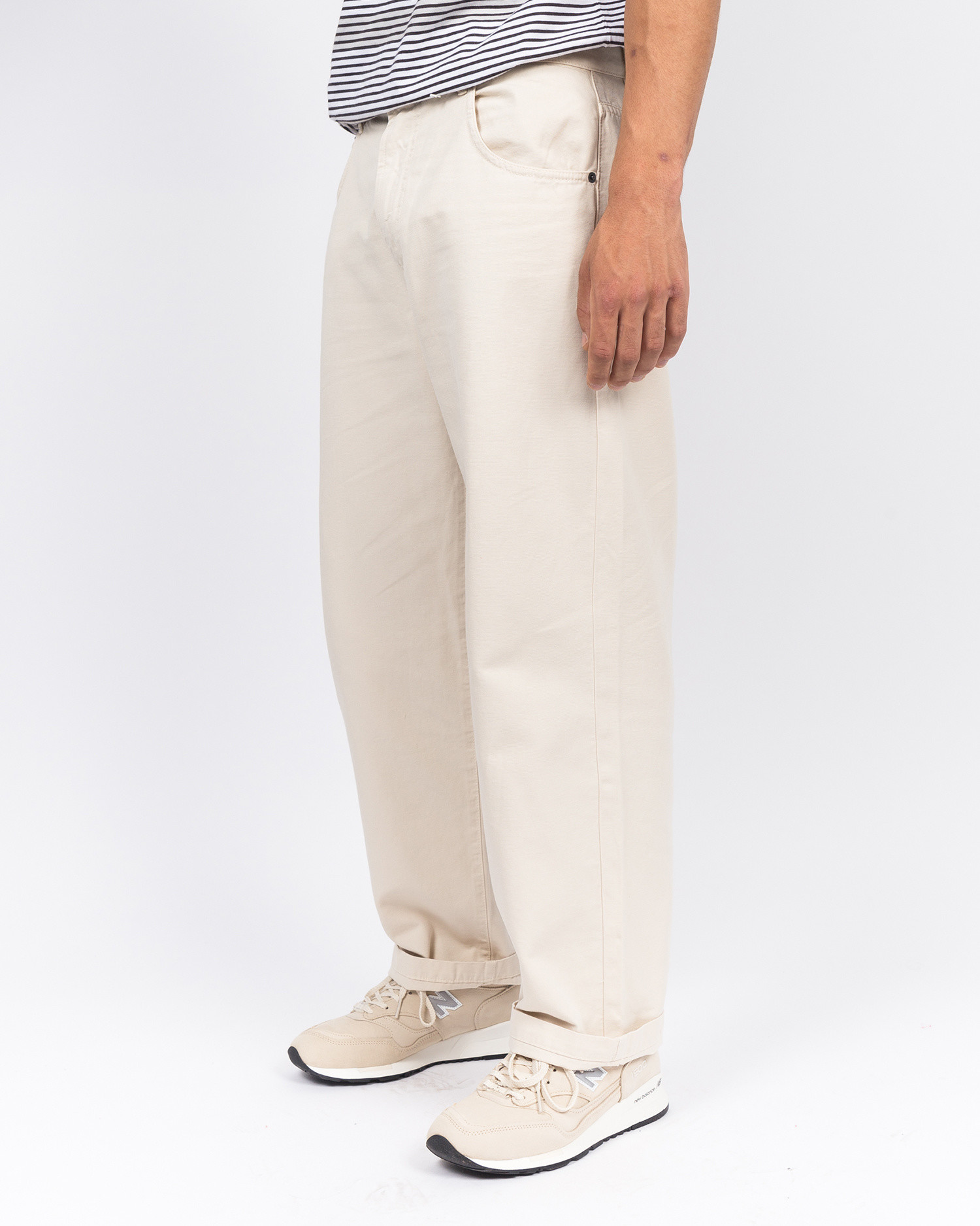 Pop Trading Co DRS pants off white canvas